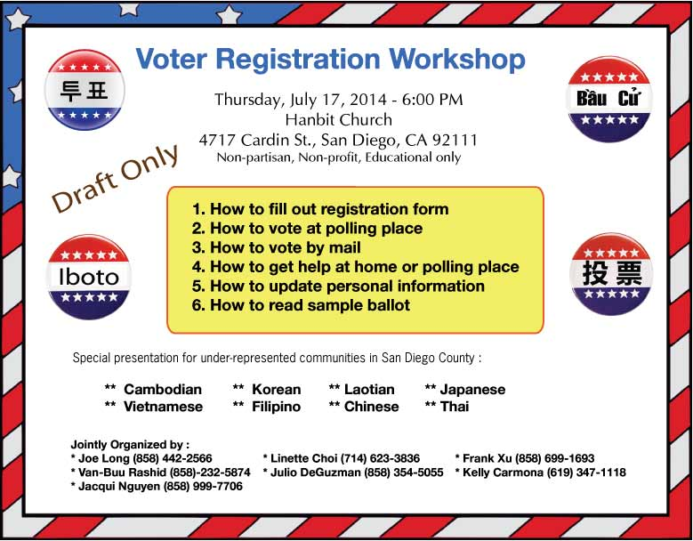 Voter Registration Workshop